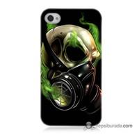 Teknomeg İphone 4 Kapak Kılıf Ölüm Maskesi Baskılı Silikon