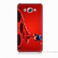 Teknomeg Samsung Galaxy E7 Kapak Kılıf Sevimli Kahraman Baskılı Silikon