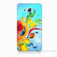 Teknomeg Samsung Galaxy E7 Kapak Kılıf Renkli Desen Baskılı Silikon