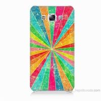 Teknomeg Samsung Galaxy E7 Kapak Kılıf Renk Efekti Baskılı Silikon