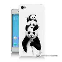 Teknomeg Lenovo S60 Panda Ailesi Baskılı Silikon Kılıf