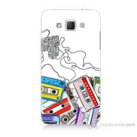 Teknomeg Samsung Galaxy Grand Max Kasetler Baskılı Silikon Kılıf