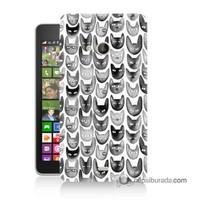 Teknomeg Nokia Lumia 535 Kapak Kılıf Kediler Baskılı Silikon