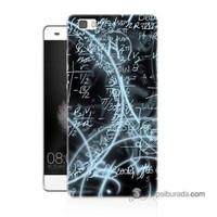 Teknomeg Huawei P8 Lite Kapak Kılıf Matematik Baskılı Silikon