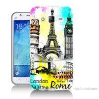 Teknomeg Samsung Galaxy J7 Kapak Kılıf Avrupa Baskılı Silikon