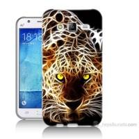 Teknomeg Samsung Galaxy J7 Kapak Kılıf Yanan Aslan Baskılı Silikon
