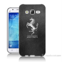 Teknomeg Samsung Galaxy J7 Kapak Kılıf Ferrari Baskılı Silikon