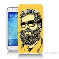 Teknomeg Samsung Galaxy J7 Kapak Kılıf Mustache Baskılı Silikon