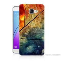 Teknomeg Samsung Galaxy A7 2016 Kapak Kılıf Yaprak Baskılı Silikon