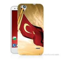 Teknomeg Turkcell T60 Türk Bayrağı Baskılı Silikon Kılıf