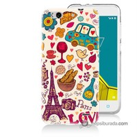 Teknomeg Vodafone Smart 6 Kapak Kılıf Paris Love Baskılı Silikon
