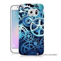 Teknomeg Samsung Galaxy S6 Edge Plus Kapak Kılıf Çarklar Baskılı Silikon