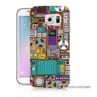 Teknomeg Samsung Galaxy S6 Edge Plus Kılıf Kapak Teknoloji Baskılı Silikon
