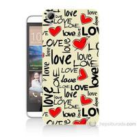 Teknomeg Htc Desire 826 Love Baskılı Silikon Kılıf