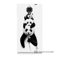 Teknomeg General Mobile Discovery Elite Kapak Kılıf Panda Ailesi Baskılı Silikon