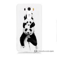 Teknomeg Lg G3 Kapak Kılıf Panda Ailesi Baskılı Silikon