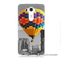 Teknomeg Lg G3 Kılıf Kapak Renkli Uçan Balon Baskılı Silikon