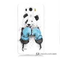 Teknomeg Lg G3 Kılıf Kapak Boksör Panda Baskılı Silikon