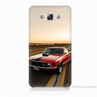 Teknomeg Samsung Galaxy E5 Kapak Kılıf Araba Baskılı Silikon