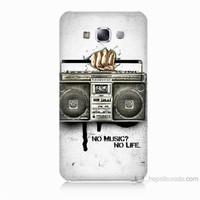 Teknomeg Samsung Galaxy E5 Kapak Kılıf Müzik Hayattır Baskılı Silikon