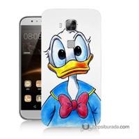 Teknomeg Huawei G8 Kapak Kılıf Donald Duck Baskılı Silikon