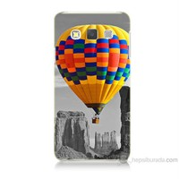 Teknomeg Samsung Galaxy A7 Renkli Uçan Balon Baskılı Silikon Kılıf