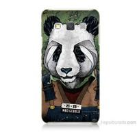 Teknomeg Samsung Galaxy A7 İşçi Panda Baskılı Silikon Kılıf