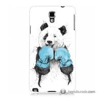 Teknomeg Samsung Galaxy Note 3 Neo Kılıf Kapak Boksör Panda Baskılı Silikon