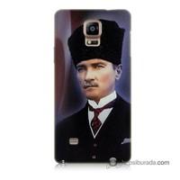 Teknomeg Samsung Galaxy Note 4 Kılıf Kapak Mustafa Kemal Atatürk Baskılı Silikon