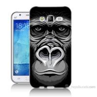 Teknomeg Samsung Galaxy J7 Kapak Kılıf Goril Baskılı Silikon