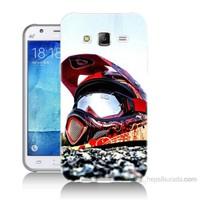 Teknomeg Samsung Galaxy J7 Kapak Kılıf Kask Baskılı Silikon