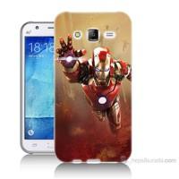 Teknomeg Samsung Galaxy J7 Kapak Kılıf Demir Adam Baskılı Silikon