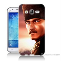Teknomeg Samsung Galaxy J7 Kapak Kılıf Mustafa Kemal Baskılı Silikon