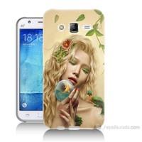 Teknomeg Samsung Galaxy J7 Kapak Kılıf Sade Kadın Baskılı Silikon