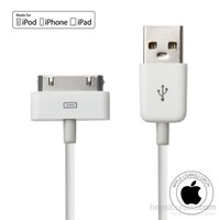 Mirax iPhone 4/4S/iPad/iPod Şarj ve Data Kablosu (Apple Lisanslı) - mirax SDE- 4100
