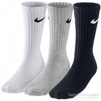 Nike Sx4508-965 Renkli 3Lü Çorap Seti