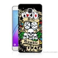 Teknomeg Samsung Galaxy A7 2016 Kapak Kılıf Kumar Baskılı Silikon