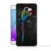 Teknomeg Samsung Galaxy A7 2016 Kapak Kılıf Papağan Baskılı Silikon