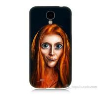 Teknomeg Samsung Galaxy S4 Zombie Kız Baskılı Silikon Kılıf