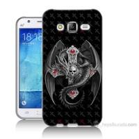 Teknomeg Samsung Galaxy J5 Kapak Kılıf Dragon Baskılı Silikon