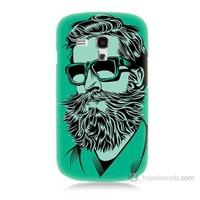 Teknomeg Samsung Galaxy S3 Mini Beard Art Baskılı Silikon Kılıf