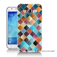 Teknomeg Samsung Galaxy J5 Kılıf Kapak Kırkyama Baskılı Silikon