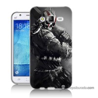 Teknomeg Samsung Galaxy J7 Kılıf Kapak Tribal Warrior Baskılı Silikon