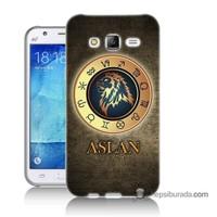 Teknomeg Samsung Galaxy J7 Kılıf Kapak Aslan Burcu Baskılı Silikon