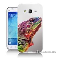 Teknomeg Samsung Galaxy J7 Kapak Kılıf İguana Baskılı Silikon