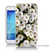 Teknomeg Samsung Galaxy J7 Kılıf Kapak Papatyalar Baskılı Silikon