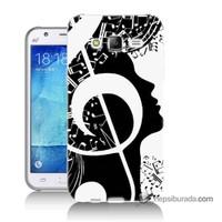 Teknomeg Samsung Galaxy J7 Kapak Kılıf Notalar Baskılı Silikon