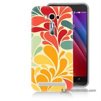 Teknomeg Asus Zenfone Laser 5.0 Kapak Kılıf Çiçekler Baskılı Silikon