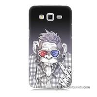 Teknomeg Samsung Galaxy Grand 2 Kapak Kılıf Maymun Baskılı Silikon
