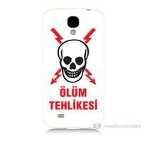 Teknomeg Samsung Galaxy S4 Ölüm Tehlikesi Baskılı Silikon Kılıf